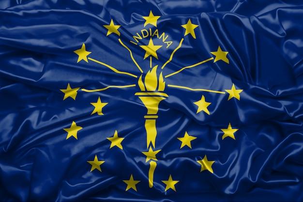 Flaga stanu indiana stanów zjednoczonych ameryki
