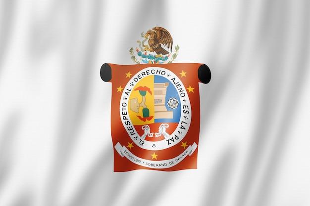 Flaga stanu oaxaca, meksyk macha kolekcja transparentu. ilustracja 3d
