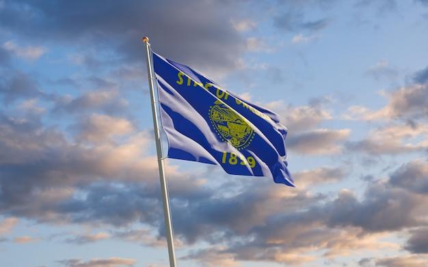 Flaga stanu oregon w niebo