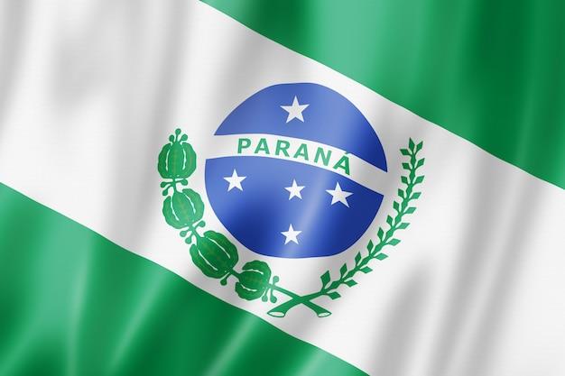 Flaga stanu parana, brazylia macha kolekcja transparentu. ilustracja 3d