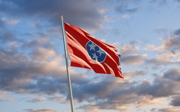 Flaga stanu south tennessee na niebie