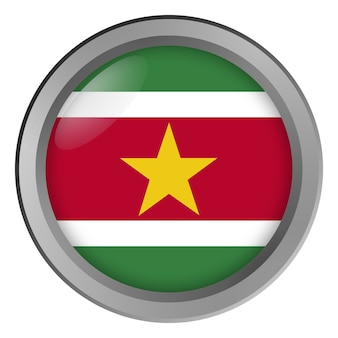 Flaga surinamu okrągła jako guzik