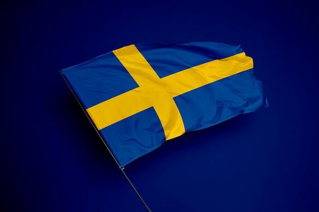 Flaga szwecji w tle