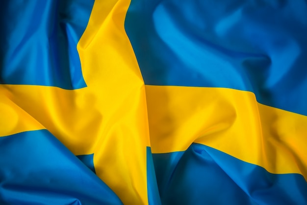 Flaga szwecji.