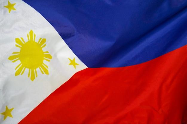Flaga tekstury tkaniny z filipin.