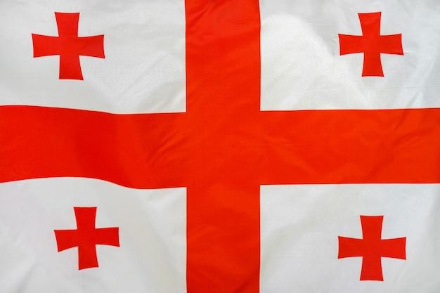 Flaga tekstury tkaniny z gruzji.
