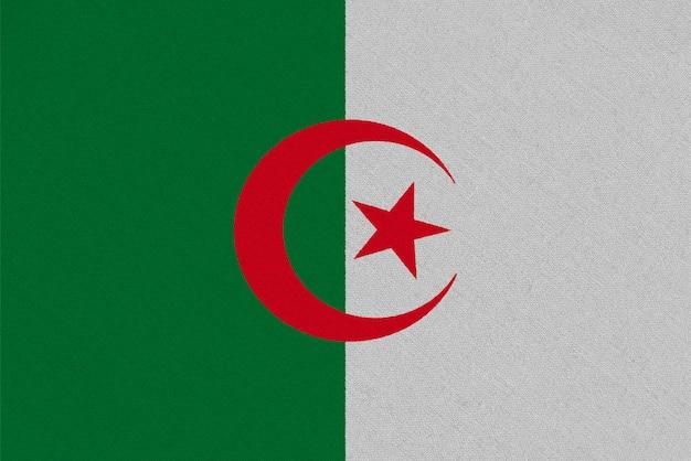 Flaga tkaniny algierii