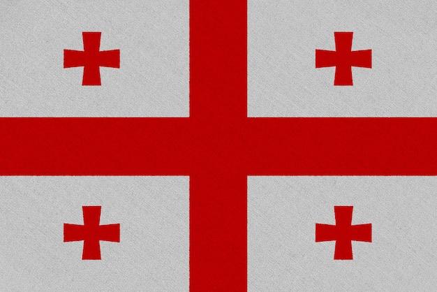 Flaga tkaniny gruzji