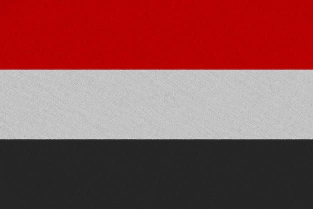 Flaga tkaniny jemenu