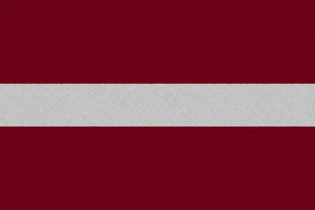 Flaga tkaniny łotwy