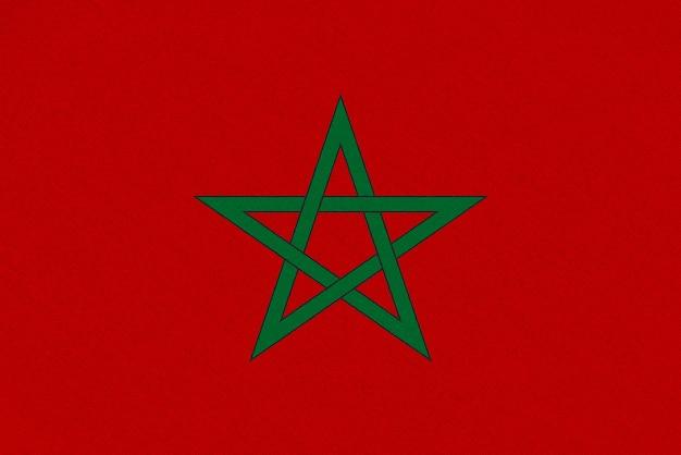 Flaga tkaniny maroka