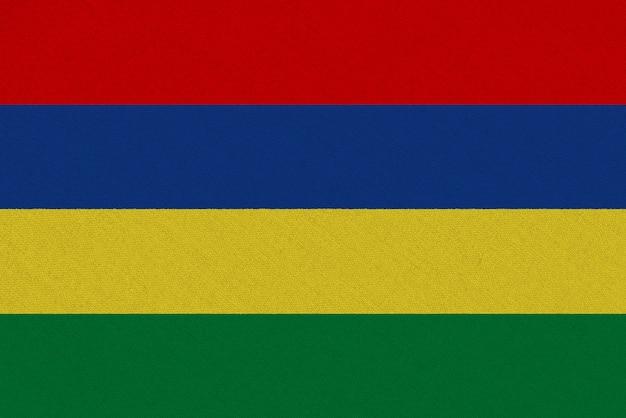 Flaga tkaniny mauritius