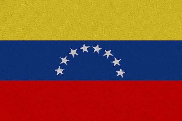 Flaga tkaniny wenezueli