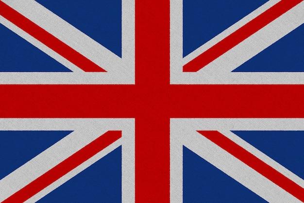 Flaga tkaniny wielkiej brytanii