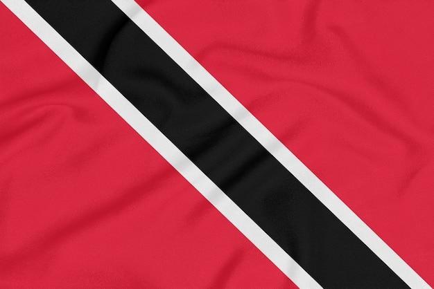 Flaga trynidadu i tobago na teksturowanej tkaninie