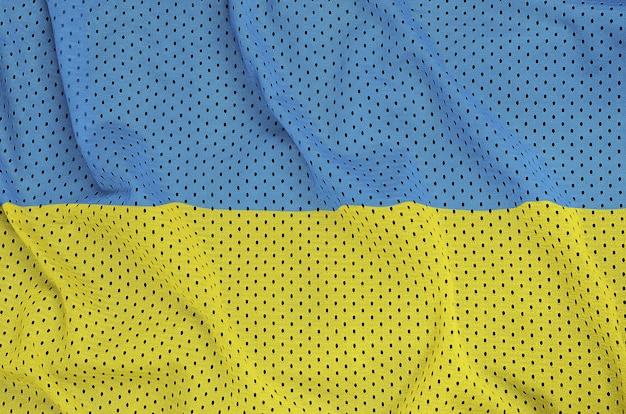 Flaga ukrainy wydrukowana na nylonowej siatce z poliestru