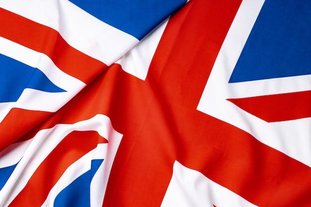 Flaga union jack wielkiej brytanii, ściana