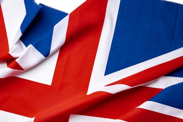 Flaga union jack zjednoczonego królestwa,