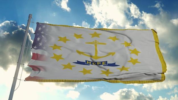 Flaga usa i stanu rhode island
