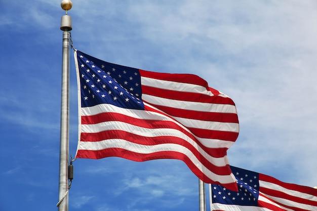 Flaga usa, miasto waszyngton, stany zjednoczone