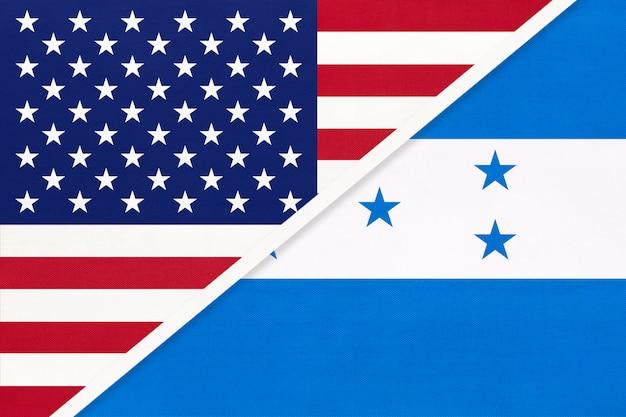 Flaga usa vs honduras. relacje między dwoma krajami.