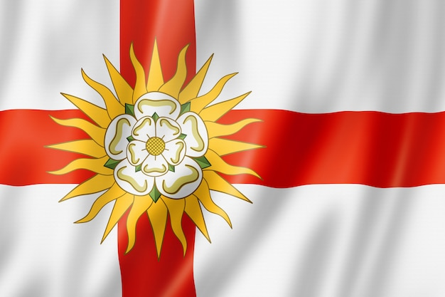 Flaga west riding of yorkshire county, wielka brytania