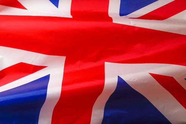 Flaga wielkiej brytanii jako tło. widok z góry.