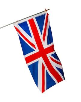 Flaga wielkiej brytanii na białym tle