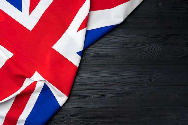 Flaga wielkiej brytanii na podłoże drewniane