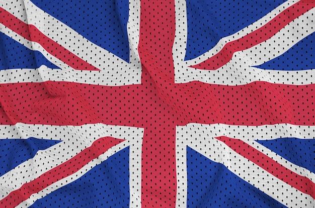 Flaga wielkiej brytanii wydrukowana na siatce z nylonu poliestrowego