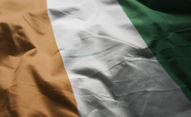 Flaga wybrzeża kości słoniowej z bliska