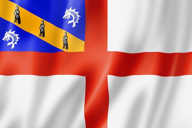 Flaga wyspy herm, wielka brytania