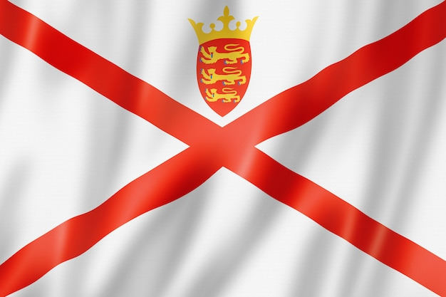 Flaga wyspy jersey, wielka brytania