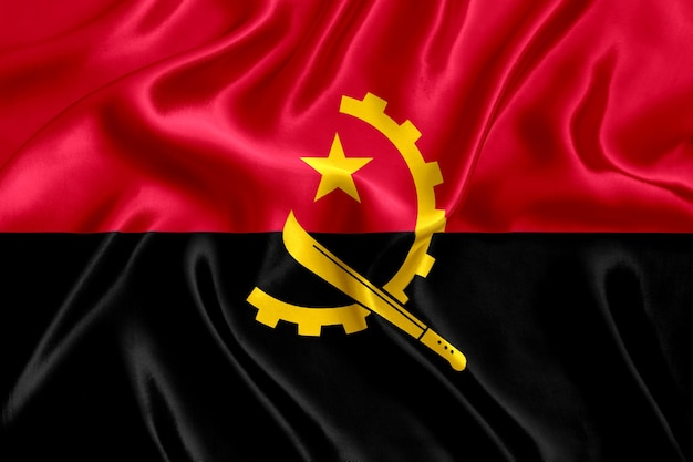 Flaga z bliska jedwabiu angoli