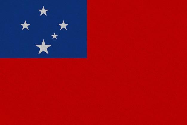 Flaga z tkaniny samoa