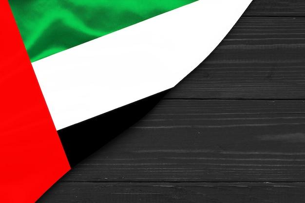 Flaga zjednoczonych emiratów arabskich kopia przestrzeń