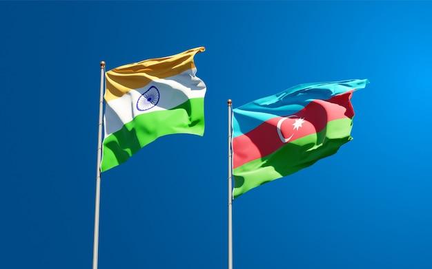 Flagi państwowe indii i azerbejdżanu
