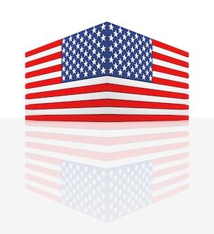 Flagi stanów zjednoczonych renderowania 3d