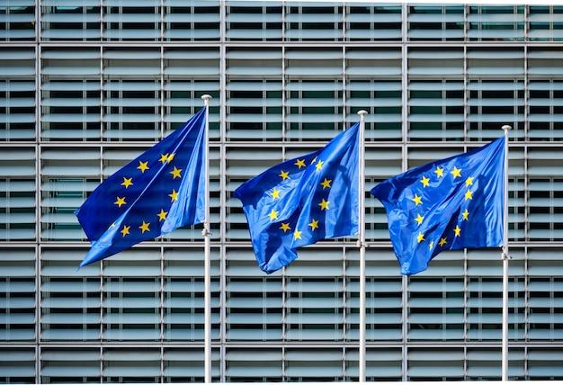 Flagi ue przed komisją europejską