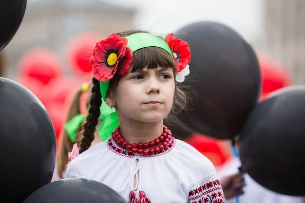 Flashmob maki pamięci na placu niepodległości w kijowie