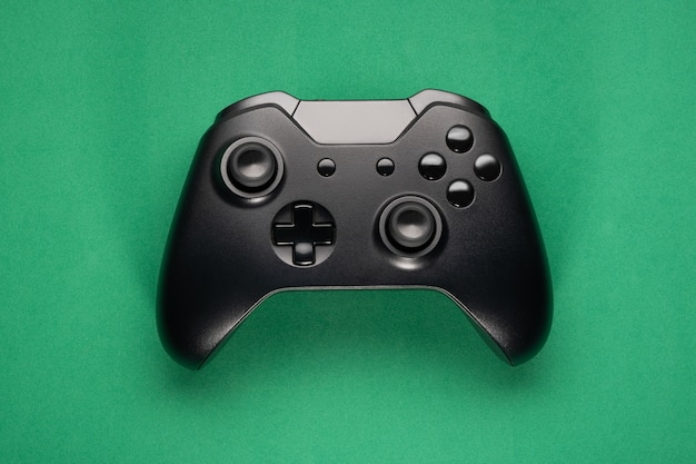 Flat lay close up na kontrolerze gier