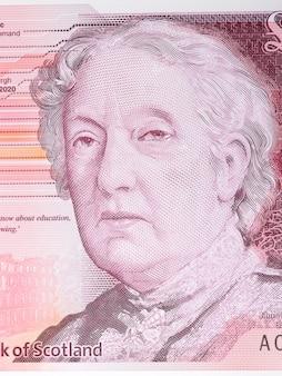 Flora stevenson portret ze szkockich pieniędzy