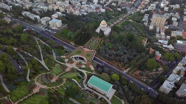 Flyover parku w izraelu w słoneczny dzień w okresie letnim