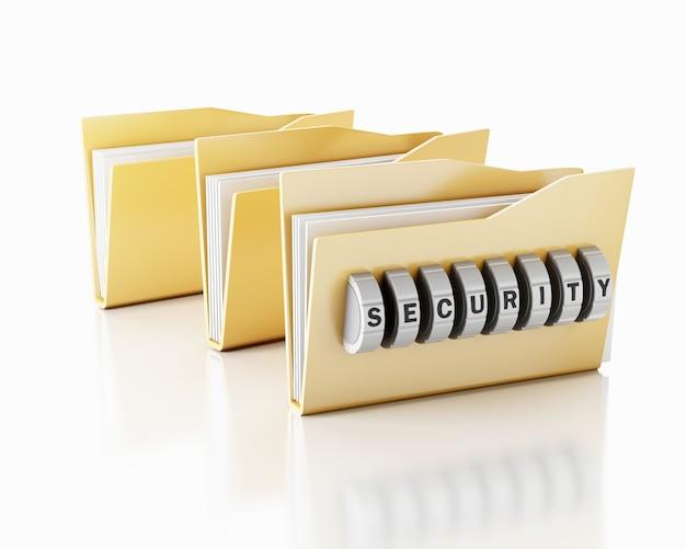 Folder 3d z kombinacją haseł.