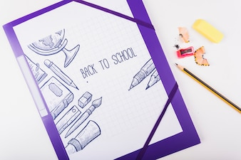 Folder z zadaszoną ilustracją