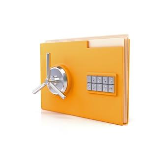 Foldery biurowe z bezpiecznymi zamkami.