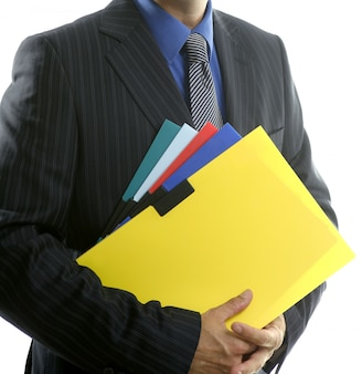 Foldery biznesmen i kolor