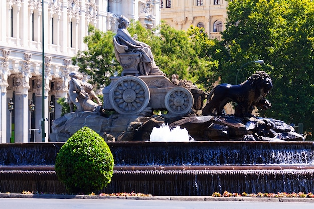 Fontanna cibeles przy plaza de cibeles