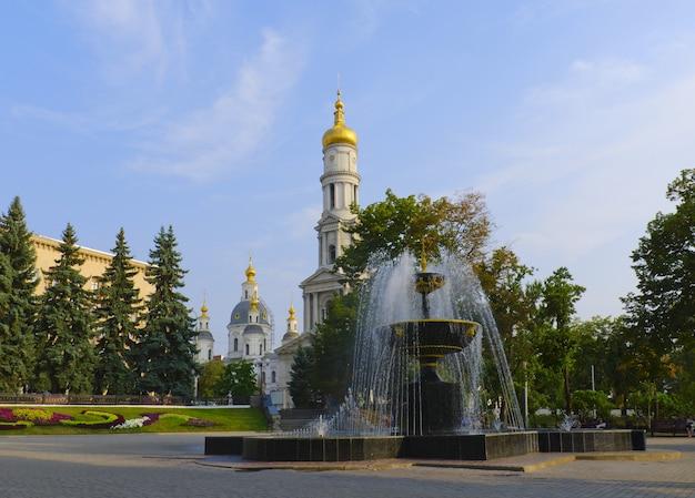 Fontanna na placu przed katedrą wniebowzięcia nmp