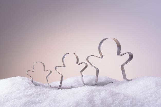 Foremki na świąteczne ciasteczka na śniegu
